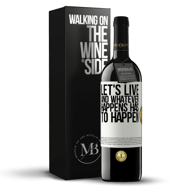 24,95 € Free Shipping | Red Wine RED Edition Crianza 6 Months Let's live. And whatever happens has to happen White Label. Customizable label Aging in oak barrels 6 Months Harvest 2018 Tempranillo