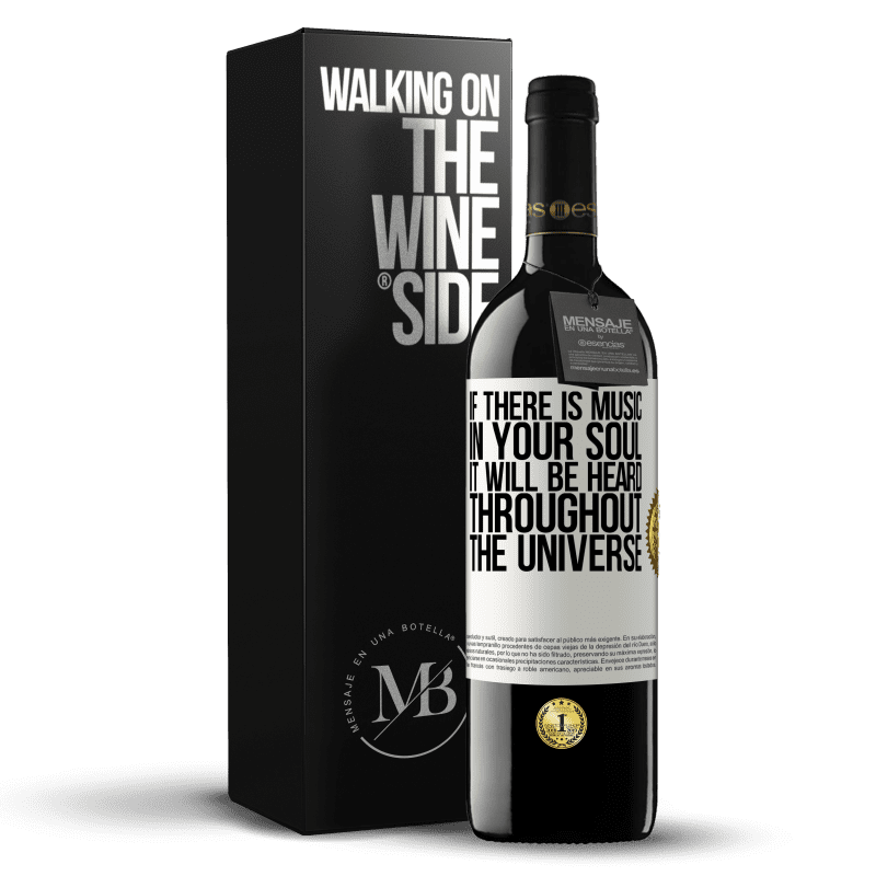 24,95 € Free Shipping | Red Wine RED Edition Crianza 6 Months If there is music in your soul, it will be heard throughout the universe White Label. Customizable label Aging in oak barrels 6 Months Harvest 2018 Tempranillo