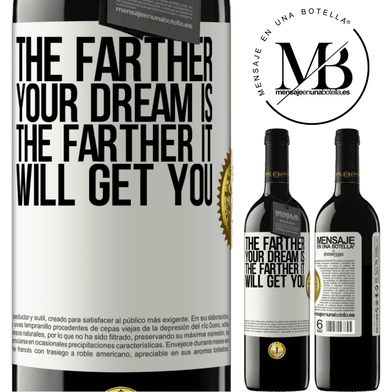 24,95 € Free Shipping | Red Wine RED Edition Crianza 6 Months The farther your dream is, the farther it will get you White Label. Customizable label Aging in oak barrels 6 Months Harvest 2018 Tempranillo