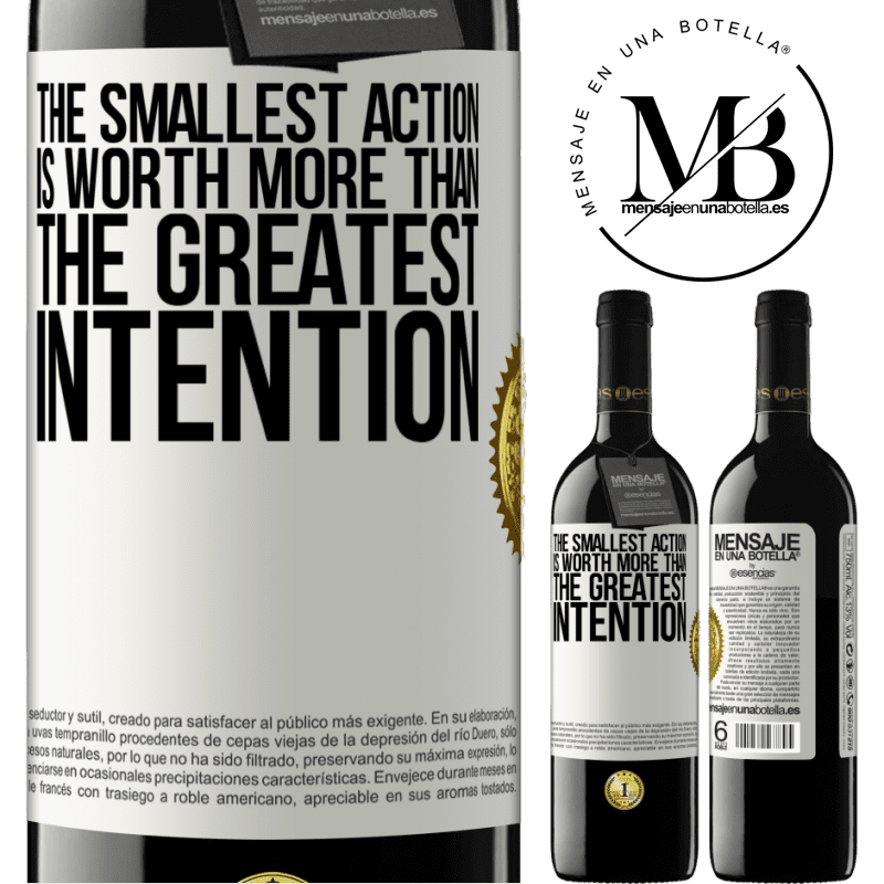 24,95 € Free Shipping | Red Wine RED Edition Crianza 6 Months The smallest action is worth more than the greatest intention White Label. Customizable label Aging in oak barrels 6 Months Harvest 2018 Tempranillo