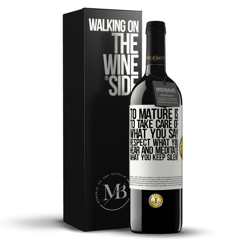 24,95 € Free Shipping | Red Wine RED Edition Crianza 6 Months To mature is to take care of what you say, respect what you hear and meditate what you keep silent White Label. Customizable label Aging in oak barrels 6 Months Harvest 2018 Tempranillo