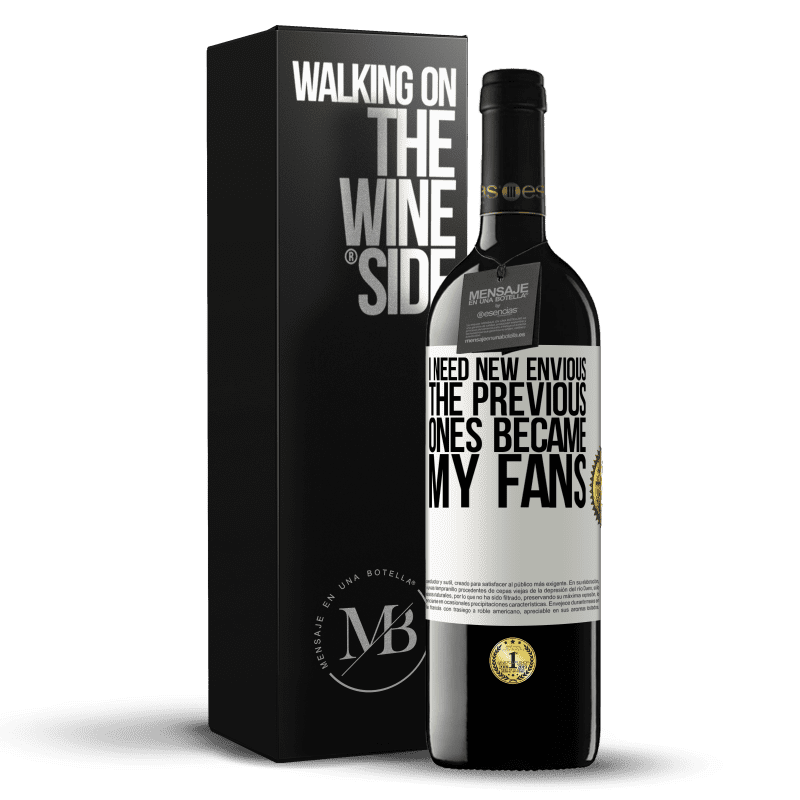 24,95 € Free Shipping | Red Wine RED Edition Crianza 6 Months I need new envious. The previous ones became my fans White Label. Customizable label Aging in oak barrels 6 Months Harvest 2018 Tempranillo