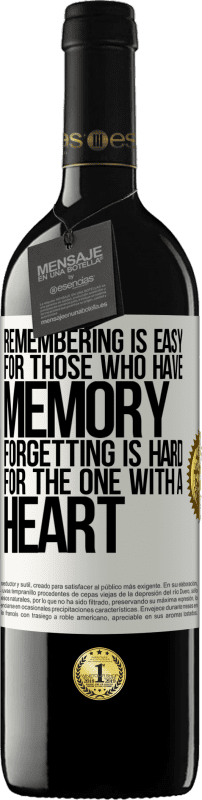 24,95 € Free Shipping | Red Wine RED Edition Crianza 6 Months Remembering is easy for those who have memory. Forgetting is hard for the one with a heart White Label. Customizable label Aging in oak barrels 6 Months Harvest 2018 Tempranillo