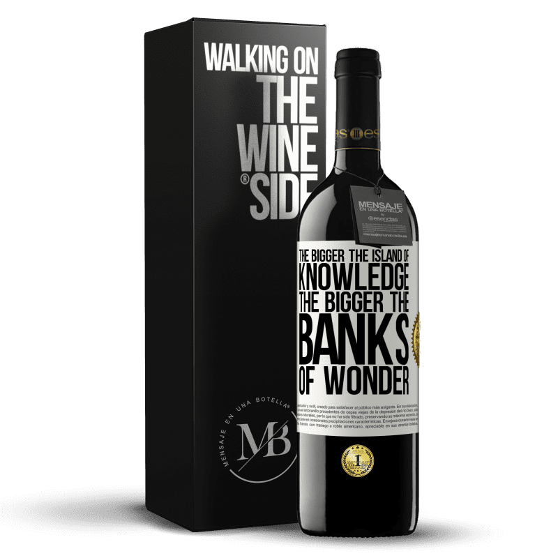 24,95 € Free Shipping | Red Wine RED Edition Crianza 6 Months The bigger the island of knowledge, the bigger the banks of wonder White Label. Customizable label Aging in oak barrels 6 Months Harvest 2018 Tempranillo