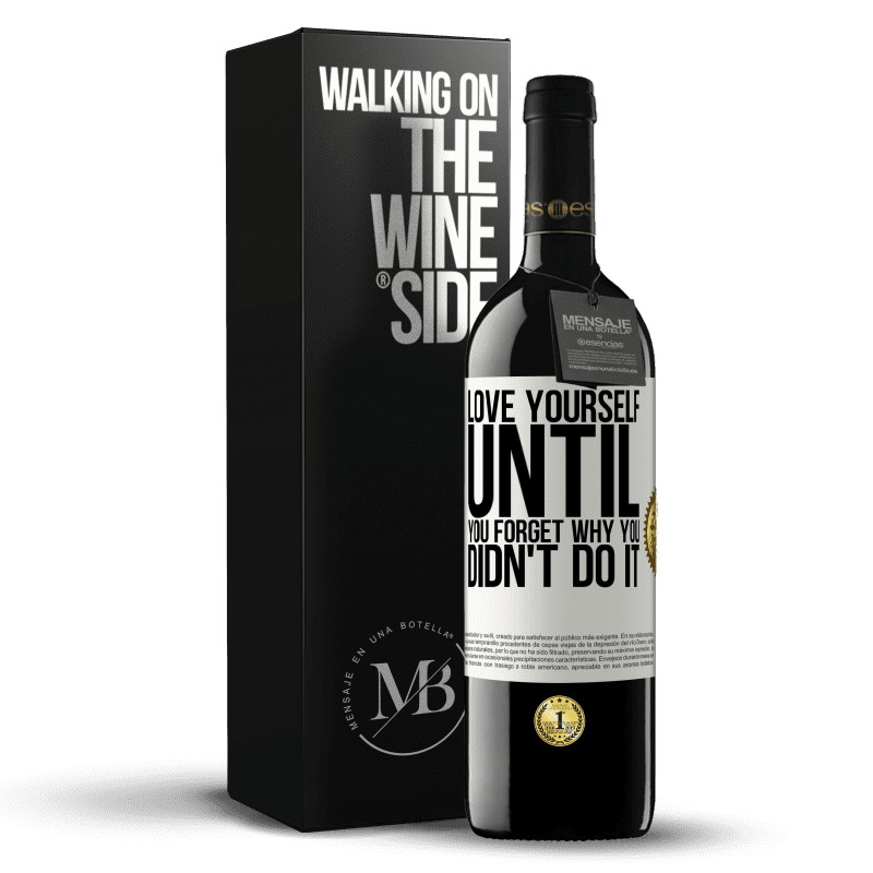 24,95 € Free Shipping | Red Wine RED Edition Crianza 6 Months Love yourself, until you forget why you didn't do it White Label. Customizable label Aging in oak barrels 6 Months Harvest 2018 Tempranillo