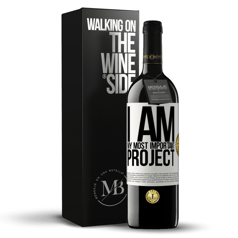 24,95 € Free Shipping | Red Wine RED Edition Crianza 6 Months I am my most important project White Label. Customizable label Aging in oak barrels 6 Months Harvest 2018 Tempranillo