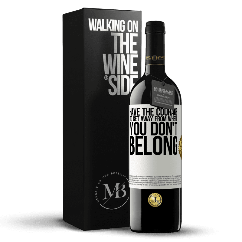 24,95 € Free Shipping | Red Wine RED Edition Crianza 6 Months Have the courage to get away from where you don't belong White Label. Customizable label Aging in oak barrels 6 Months Harvest 2018 Tempranillo