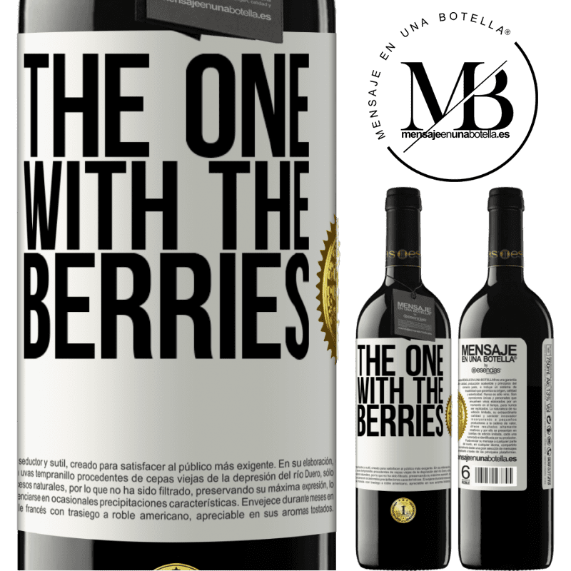 24,95 € Free Shipping | Red Wine RED Edition Crianza 6 Months The one with the berries White Label. Customizable label Aging in oak barrels 6 Months Harvest 2018 Tempranillo