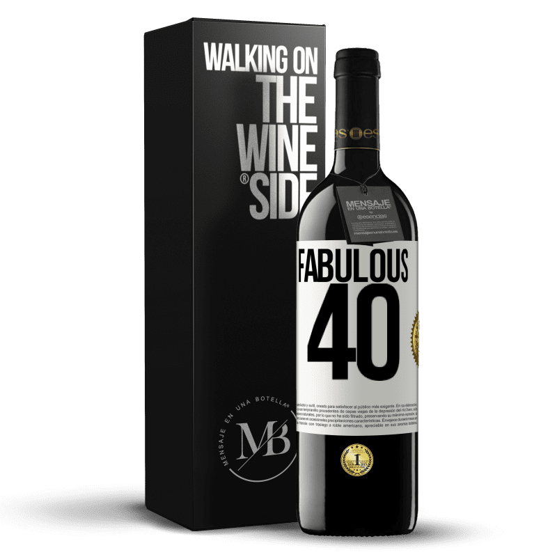 24,95 € Free Shipping | Red Wine RED Edition Crianza 6 Months Fabulous 40 White Label. Customizable label Aging in oak barrels 6 Months Harvest 2018 Tempranillo