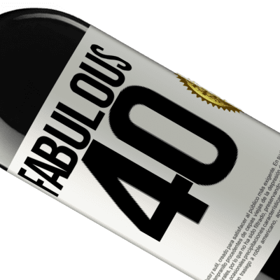 Unique & Personal Expressions. «Fabulous 40» RED Edition Crianza 6 Months