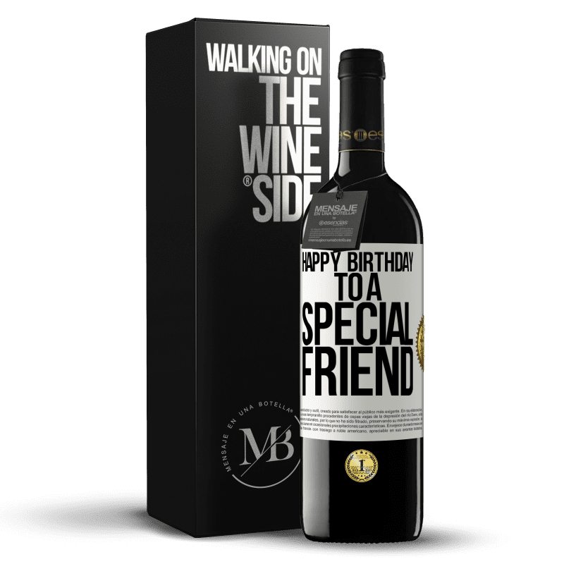 24,95 € Free Shipping | Red Wine RED Edition Crianza 6 Months Happy birthday to a special friend White Label. Customizable label Aging in oak barrels 6 Months Harvest 2018 Tempranillo