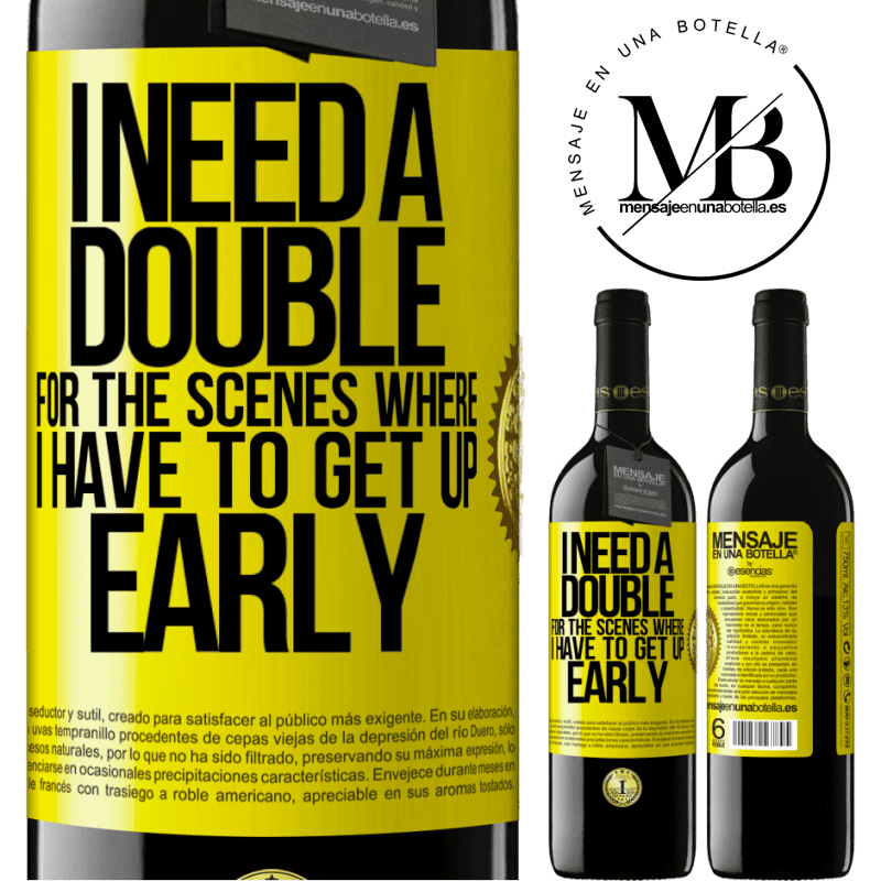 24,95 € Free Shipping   Red Wine RED Edition Crianza 6 Months I need a double for the scenes where I have to get up early Yellow Label. Customizable label Aging in oak barrels 6 Months Harvest 2018 Tempranillo