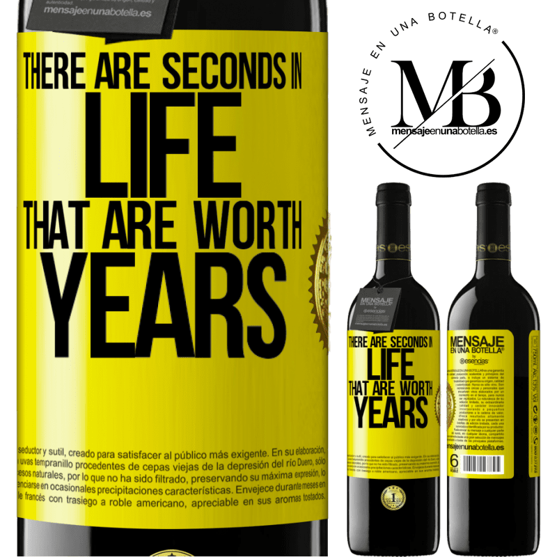 24,95 € Free Shipping   Red Wine RED Edition Crianza 6 Months There are seconds in life that are worth years Yellow Label. Customizable label Aging in oak barrels 6 Months Harvest 2018 Tempranillo