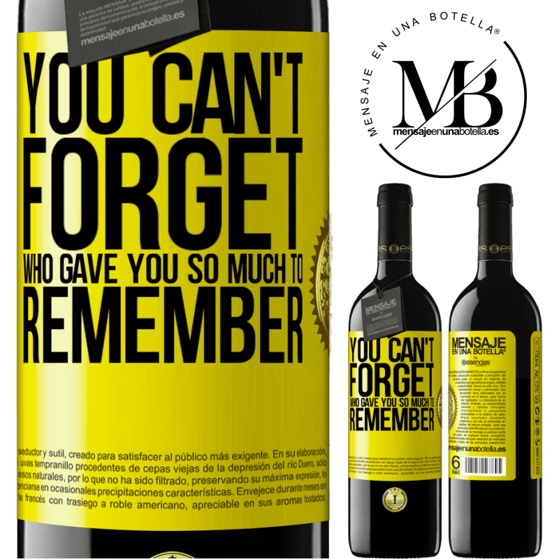 24,95 € Free Shipping | Red Wine RED Edition Crianza 6 Months You can't forget who gave you so much to remember Yellow Label. Customizable label Aging in oak barrels 6 Months Harvest 2018 Tempranillo