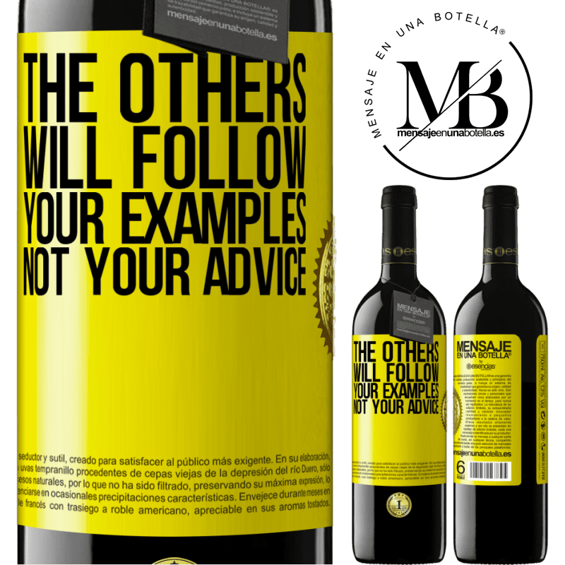 24,95 € Free Shipping | Red Wine RED Edition Crianza 6 Months The others will follow your examples, not your advice Yellow Label. Customizable label Aging in oak barrels 6 Months Harvest 2018 Tempranillo