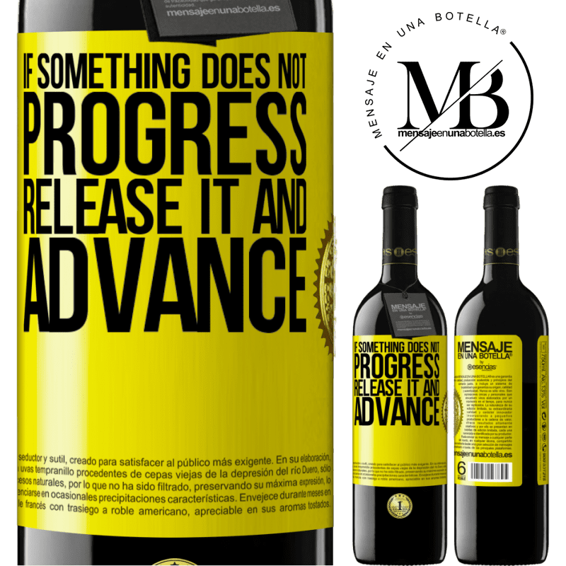 24,95 € Free Shipping | Red Wine RED Edition Crianza 6 Months If something does not progress, release it and advance Yellow Label. Customizable label Aging in oak barrels 6 Months Harvest 2018 Tempranillo
