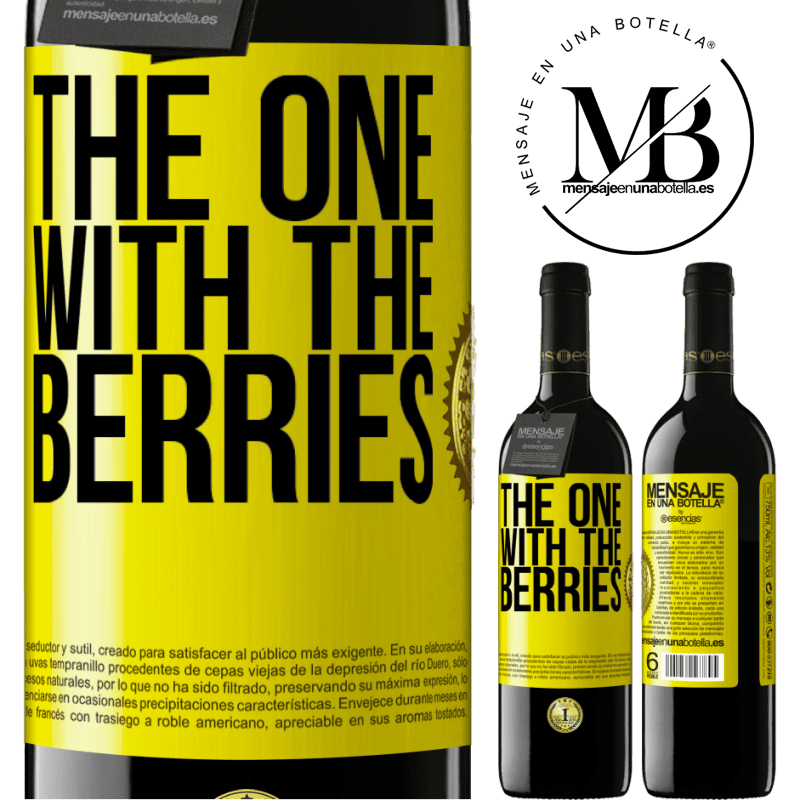 24,95 € Free Shipping | Red Wine RED Edition Crianza 6 Months The one with the berries Yellow Label. Customizable label Aging in oak barrels 6 Months Harvest 2018 Tempranillo