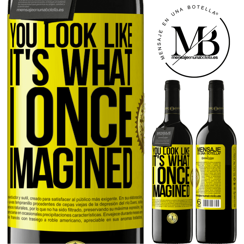 24,95 € Free Shipping | Red Wine RED Edition Crianza 6 Months You look like it's what I once imagined Yellow Label. Customizable label Aging in oak barrels 6 Months Harvest 2018 Tempranillo