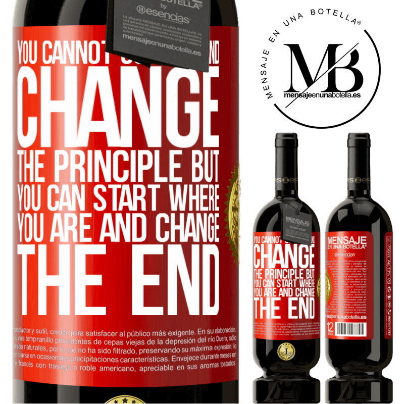 29,95 € Free Shipping | Red Wine Premium Edition MBS® Reserva You cannot go back and change the principle. But you can start where you are and change the end Red Label. Customizable label Reserva 12 Months Harvest 2013 Tempranillo