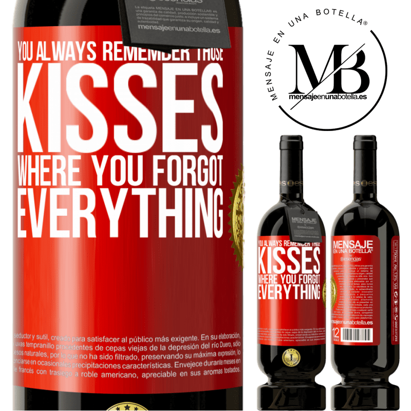 29,95 € Free Shipping | Red Wine Premium Edition MBS® Reserva You always remember those kisses where you forgot everything Red Label. Customizable label Reserva 12 Months Harvest 2013 Tempranillo