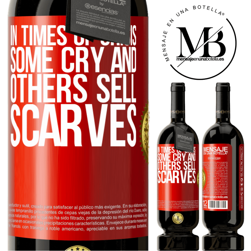 29,95 € Free Shipping | Red Wine Premium Edition MBS® Reserva In times of crisis, some cry and others sell scarves Red Label. Customizable label Reserva 12 Months Harvest 2013 Tempranillo