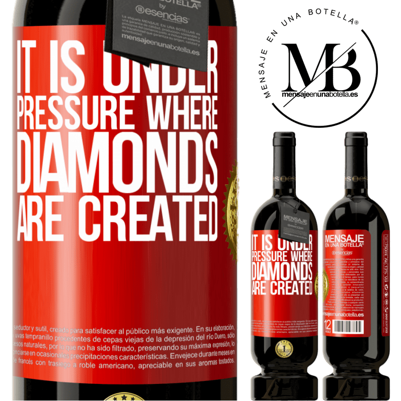 29,95 € Free Shipping | Red Wine Premium Edition MBS® Reserva It is under pressure where diamonds are created Red Label. Customizable label Reserva 12 Months Harvest 2013 Tempranillo