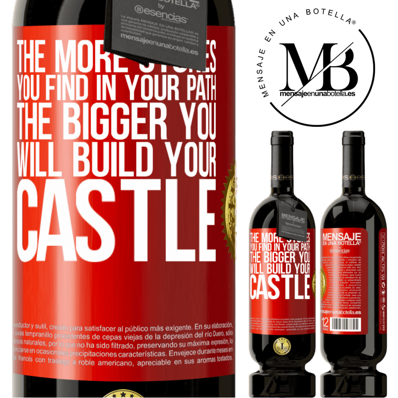 29,95 € Free Shipping | Red Wine Premium Edition MBS® Reserva The more stones you find in your path, the bigger you will build your castle Red Label. Customizable label Reserva 12 Months Harvest 2013 Tempranillo