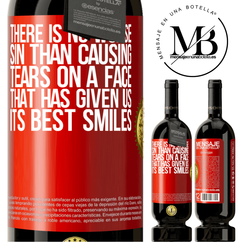 29,95 € Free Shipping   Red Wine Premium Edition MBS® Reserva There is no worse sin than causing tears on a face that has given us its best smiles Red Label. Customizable label Reserva 12 Months Harvest 2013 Tempranillo