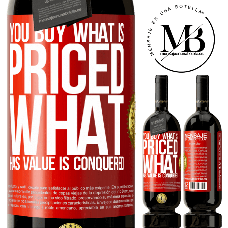29,95 € Free Shipping | Red Wine Premium Edition MBS® Reserva You buy what is priced. What has value is conquered Red Label. Customizable label Reserva 12 Months Harvest 2013 Tempranillo