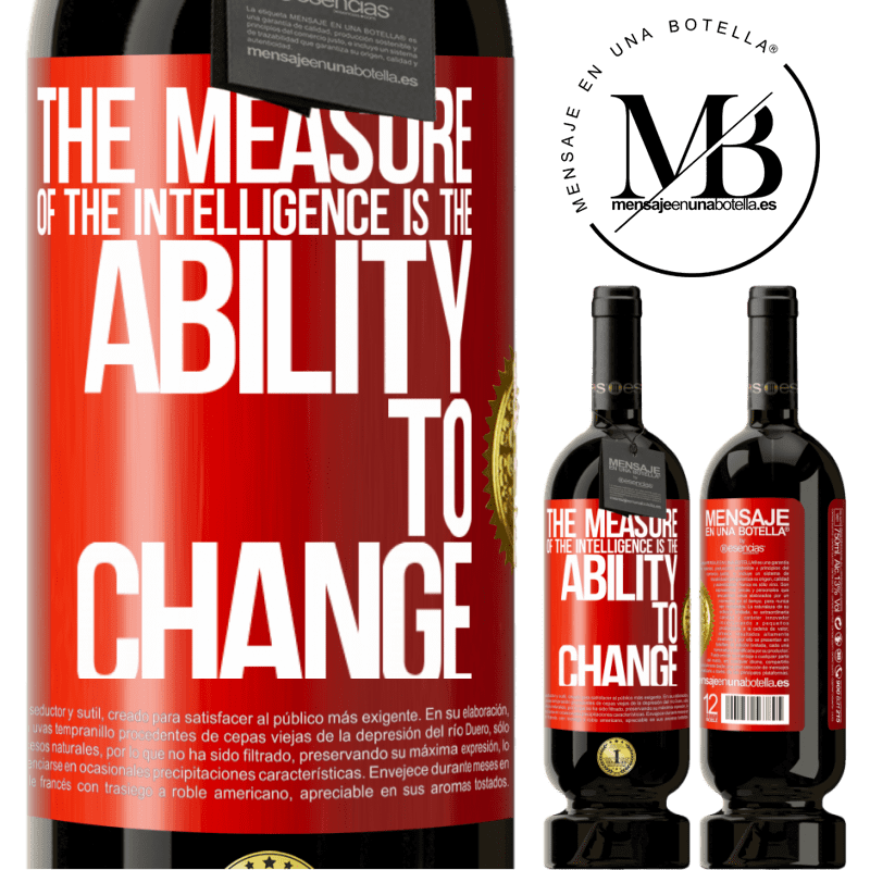 29,95 € Free Shipping   Red Wine Premium Edition MBS® Reserva The measure of the intelligence is the ability to change Red Label. Customizable label Reserva 12 Months Harvest 2013 Tempranillo