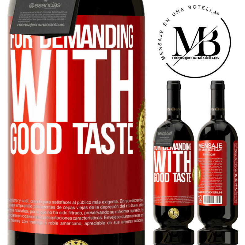 29,95 € Free Shipping | Red Wine Premium Edition MBS® Reserva For demanding with good taste Red Label. Customizable label Reserva 12 Months Harvest 2013 Tempranillo