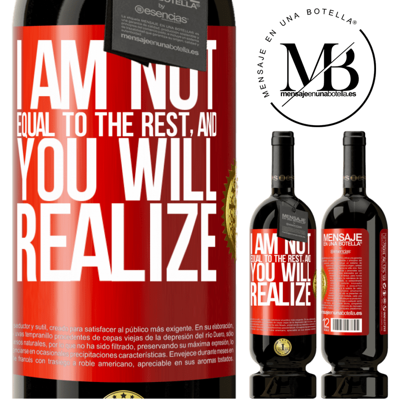 29,95 € Free Shipping | Red Wine Premium Edition MBS® Reserva I am not equal to the rest, and you will realize Red Label. Customizable label Reserva 12 Months Harvest 2013 Tempranillo