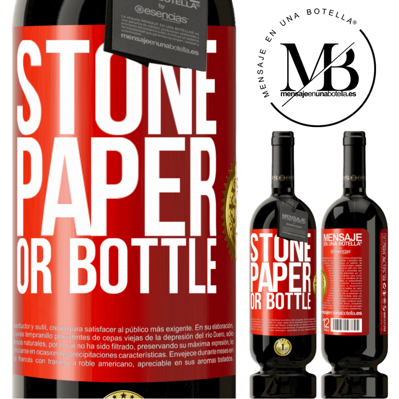 29,95 € Free Shipping   Red Wine Premium Edition MBS® Reserva Stone, paper or bottle Red Label. Customizable label Reserva 12 Months Harvest 2013 Tempranillo