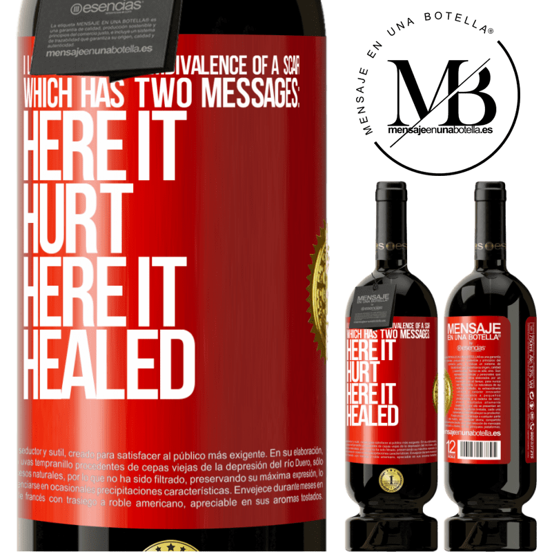 29,95 € Free Shipping   Red Wine Premium Edition MBS® Reserva I love the poetic ambivalence of a scar, which has two messages: here it hurt, here it healed Red Label. Customizable label Reserva 12 Months Harvest 2013 Tempranillo