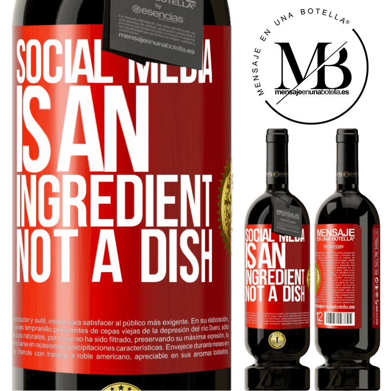 29,95 € Free Shipping | Red Wine Premium Edition MBS® Reserva Social media is an ingredient, not a dish Red Label. Customizable label Reserva 12 Months Harvest 2013 Tempranillo