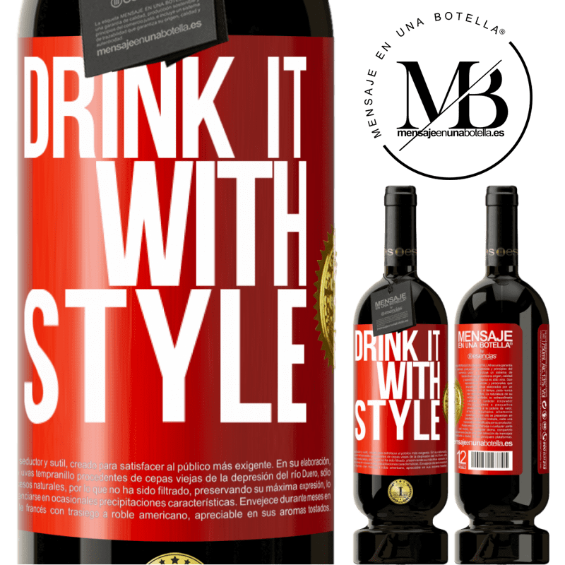 29,95 € Free Shipping | Red Wine Premium Edition MBS® Reserva Drink it with style Red Label. Customizable label Reserva 12 Months Harvest 2013 Tempranillo