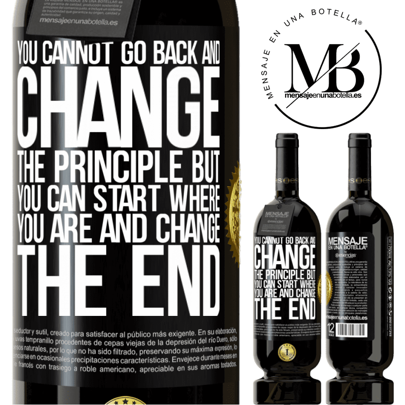29,95 € Free Shipping | Red Wine Premium Edition MBS® Reserva You cannot go back and change the principle. But you can start where you are and change the end Black Label. Customizable label Reserva 12 Months Harvest 2013 Tempranillo