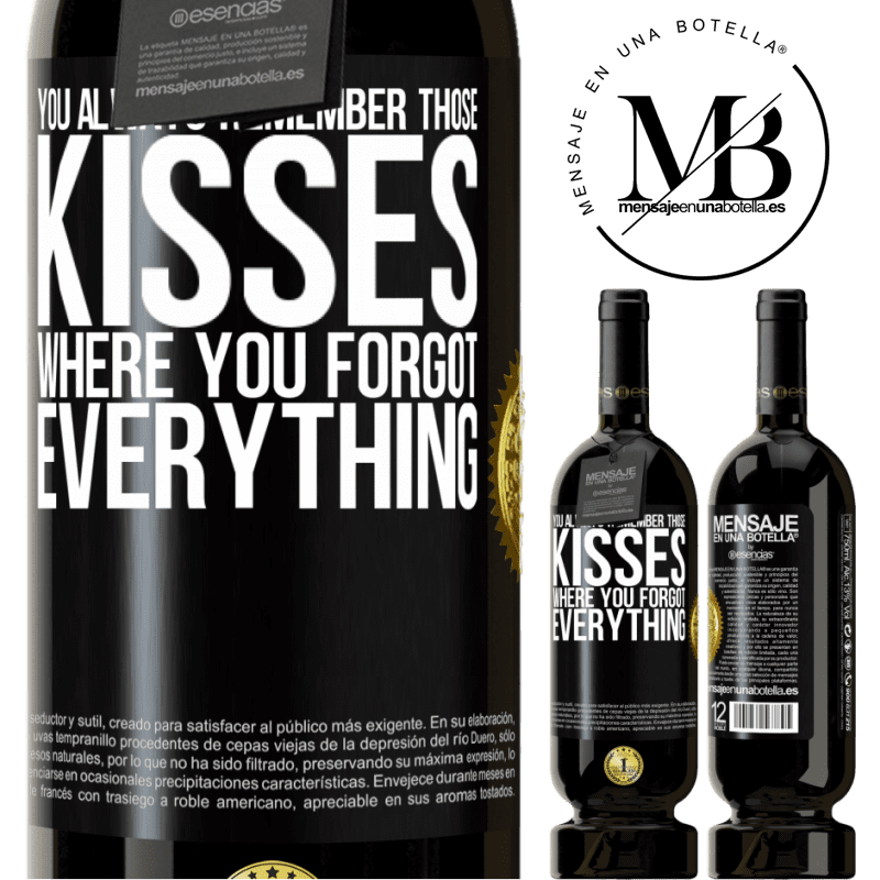 29,95 € Free Shipping | Red Wine Premium Edition MBS® Reserva You always remember those kisses where you forgot everything Black Label. Customizable label Reserva 12 Months Harvest 2013 Tempranillo