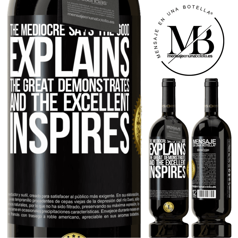 29,95 € Free Shipping | Red Wine Premium Edition MBS® Reserva The mediocre says, the good explains, the great demonstrates and the excellent inspires Black Label. Customizable label Reserva 12 Months Harvest 2013 Tempranillo