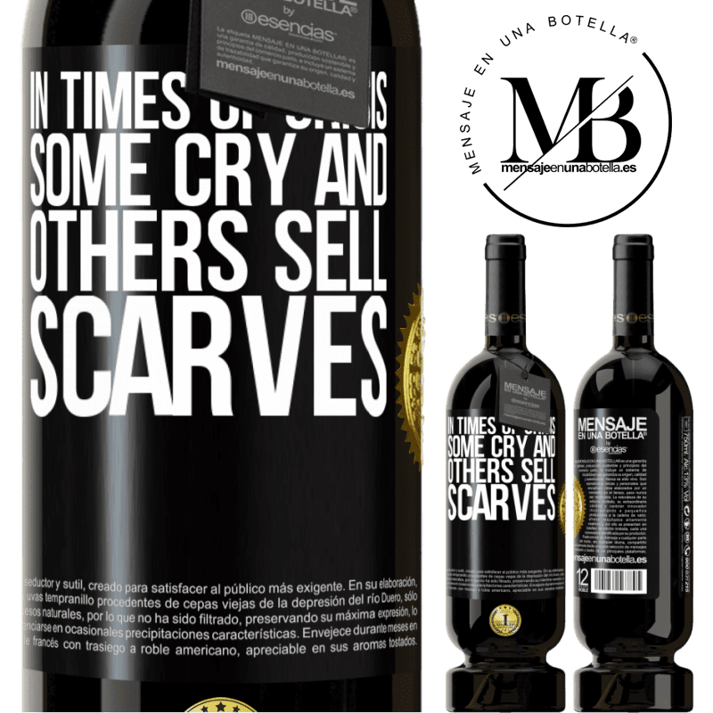 29,95 € Free Shipping | Red Wine Premium Edition MBS® Reserva In times of crisis, some cry and others sell scarves Black Label. Customizable label Reserva 12 Months Harvest 2013 Tempranillo