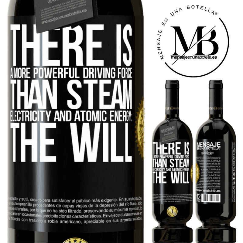 29,95 € Free Shipping | Red Wine Premium Edition MBS® Reserva There is a more powerful driving force than steam, electricity and atomic energy: The will Black Label. Customizable label Reserva 12 Months Harvest 2013 Tempranillo