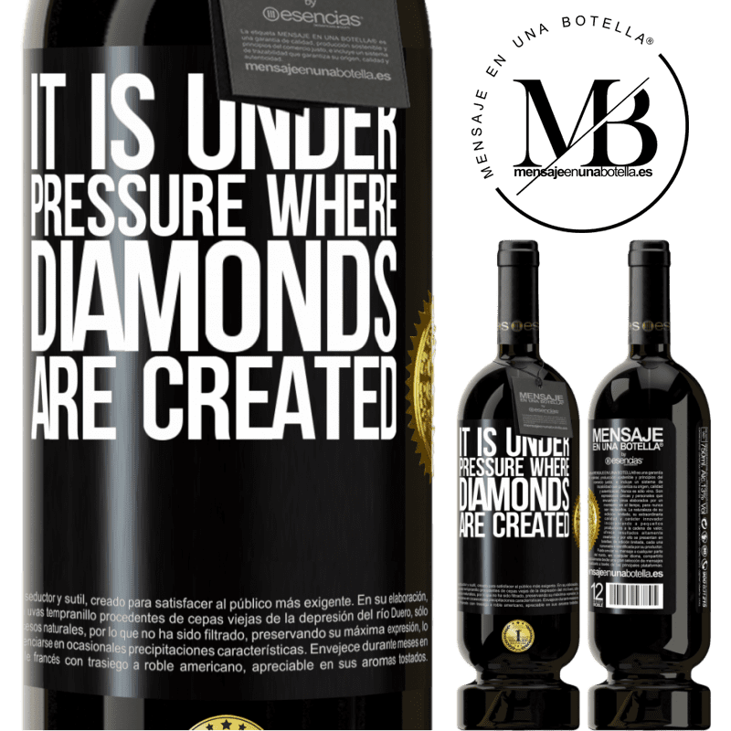 29,95 € Free Shipping | Red Wine Premium Edition MBS® Reserva It is under pressure where diamonds are created Black Label. Customizable label Reserva 12 Months Harvest 2013 Tempranillo