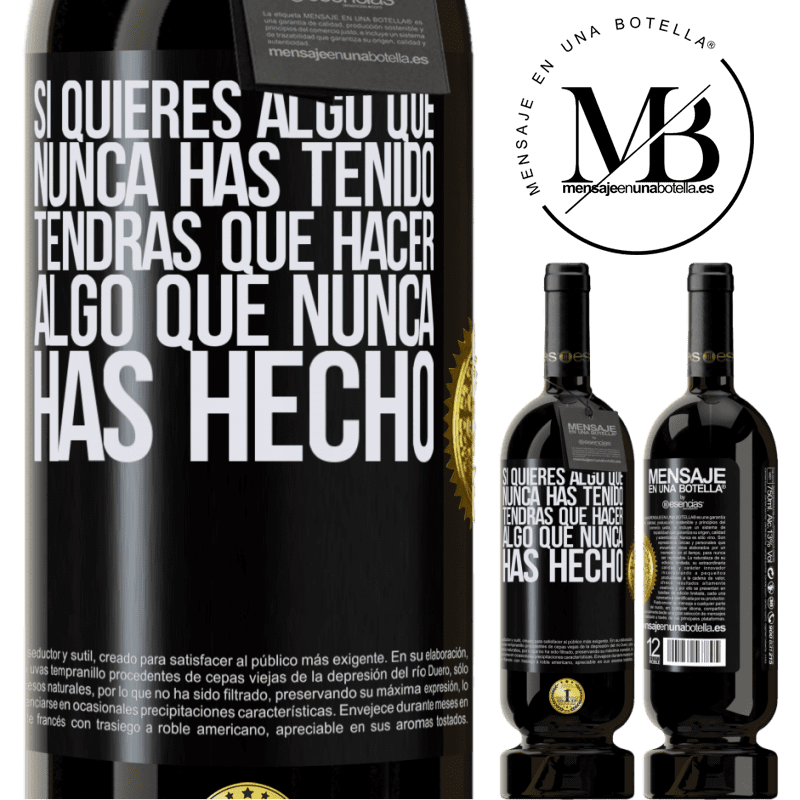 29,95 € Free Shipping | Red Wine Premium Edition MBS® Reserva If you want something you've never had, you'll have to do something you've never done Black Label. Customizable label Reserva 12 Months Harvest 2013 Tempranillo