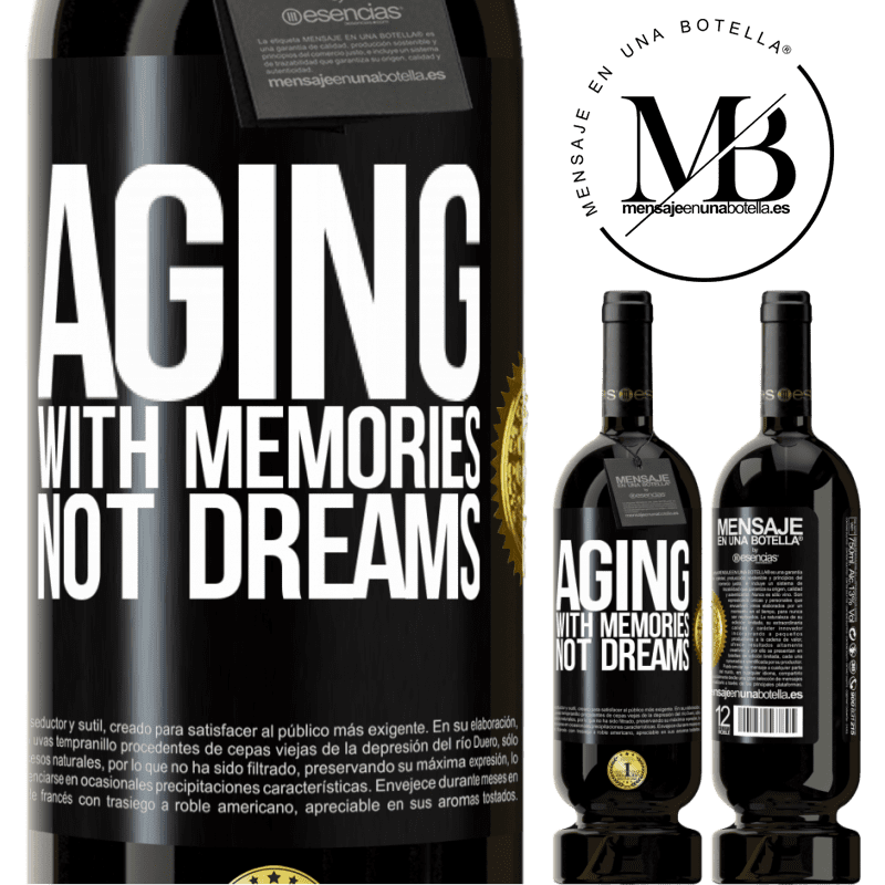 29,95 € Free Shipping | Red Wine Premium Edition MBS® Reserva Aging with memories, not dreams Black Label. Customizable label Reserva 12 Months Harvest 2013 Tempranillo