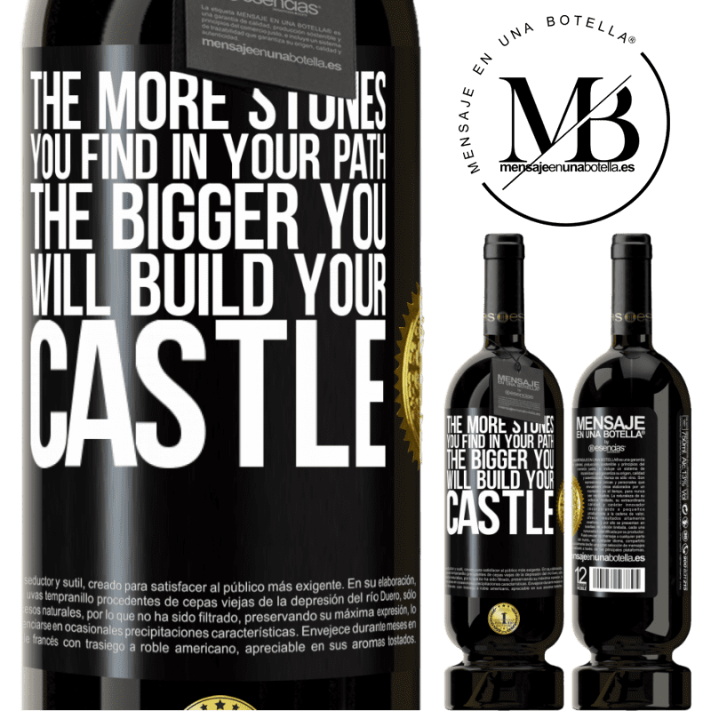 29,95 € Free Shipping | Red Wine Premium Edition MBS® Reserva The more stones you find in your path, the bigger you will build your castle Black Label. Customizable label Reserva 12 Months Harvest 2013 Tempranillo