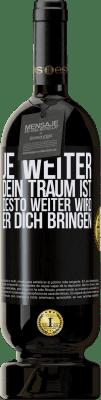 29,95 € Kostenloser Versand | Rotwein Premium Edition MBS® Reserva Je weiter dein Traum ist, desto weiter wird er dich bringen Schwarzes Etikett. Anpassbares Etikett Reserva 12 Monate Ernte 2013 Tempranillo