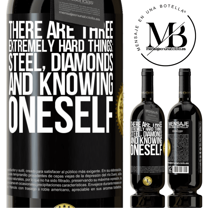 29,95 € Free Shipping   Red Wine Premium Edition MBS® Reserva There are three extremely hard things: steel, diamonds, and knowing oneself Black Label. Customizable label Reserva 12 Months Harvest 2013 Tempranillo