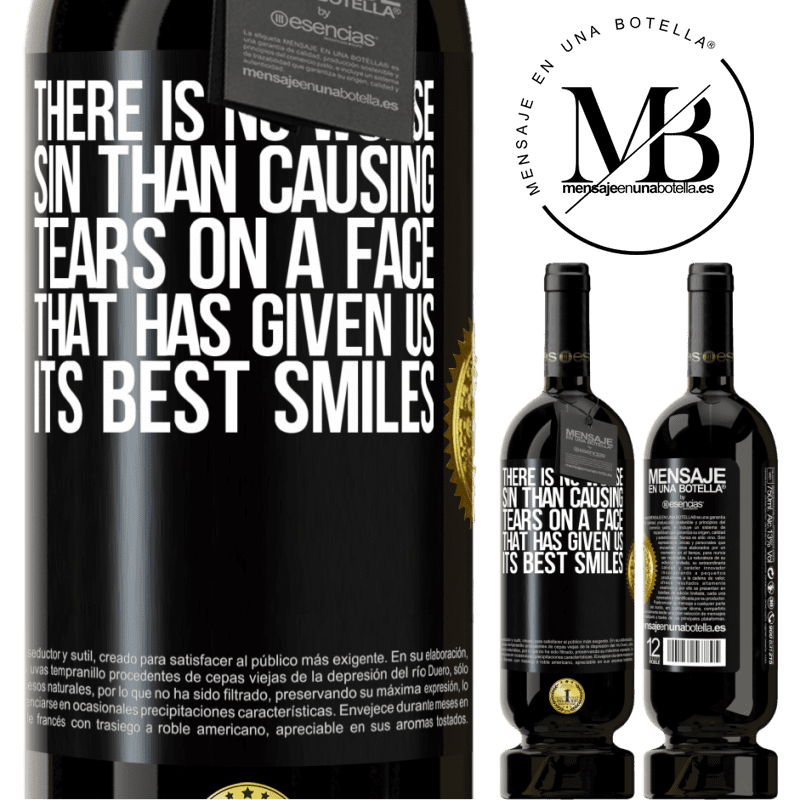 29,95 € Free Shipping   Red Wine Premium Edition MBS® Reserva There is no worse sin than causing tears on a face that has given us its best smiles Black Label. Customizable label Reserva 12 Months Harvest 2013 Tempranillo