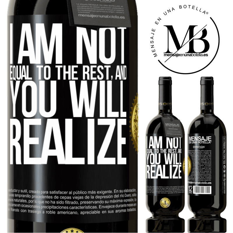 29,95 € Free Shipping | Red Wine Premium Edition MBS® Reserva I am not equal to the rest, and you will realize Black Label. Customizable label Reserva 12 Months Harvest 2013 Tempranillo