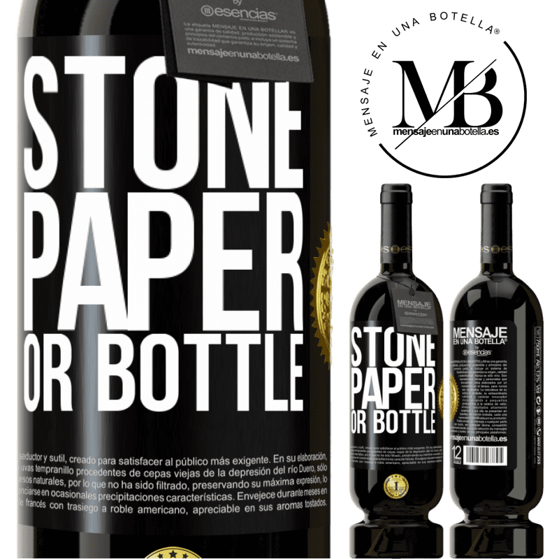 29,95 € Free Shipping   Red Wine Premium Edition MBS® Reserva Stone, paper or bottle Black Label. Customizable label Reserva 12 Months Harvest 2013 Tempranillo